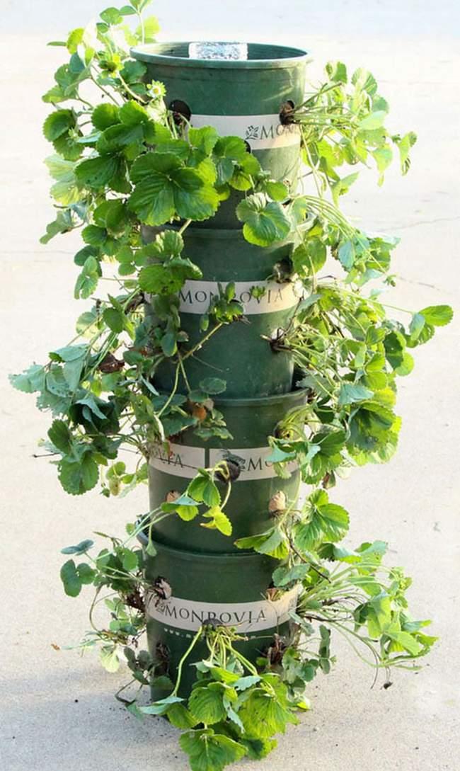 9. Homemade Garden Tower