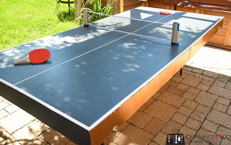 9. How To Make A DIY Folding Ping Pong Table