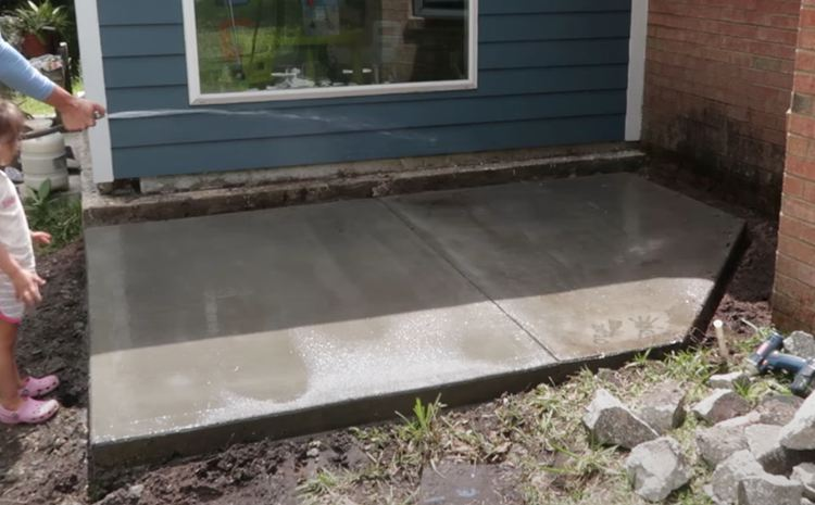 Curing the Entire Patio Slab