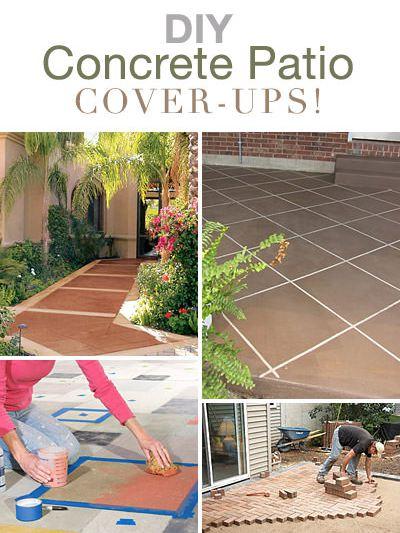 DIY Concrete Patio Cover-Ups