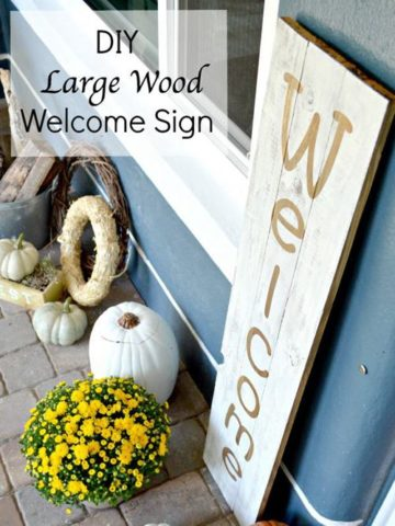 DIY Welcome Sign Ideas