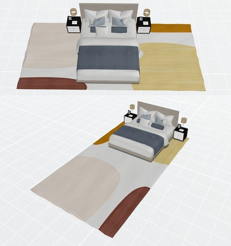 10 by 14 feet and 12 by 18 Feet Area Rugs