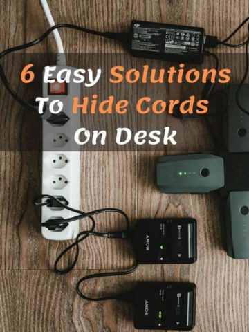 6 Easy Solutions To Hide Cords On Desk