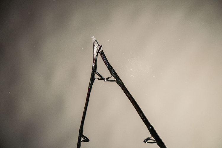 Broken fishing rod