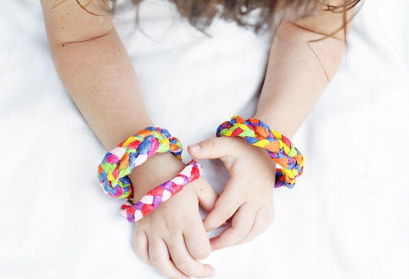 Crepe Paper Bracelets DIY