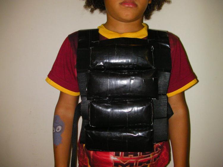 DIY Duct Tape Adjustable Weight Vest