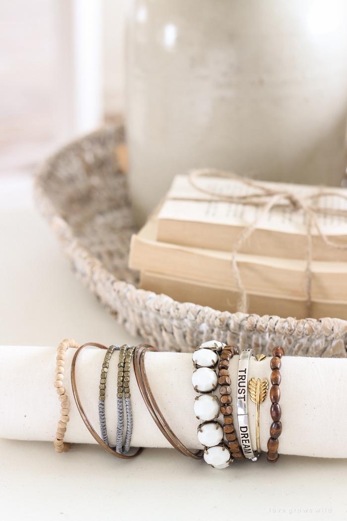 DIY Fabric Bracelet Holder