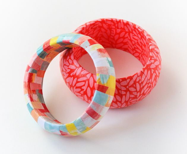 DIY Paper Wrapped Bangles