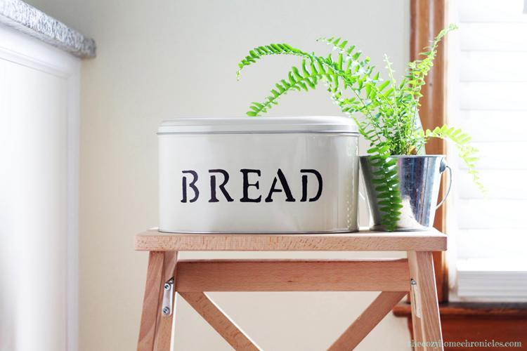 DIY Rustic Tin Bread Box