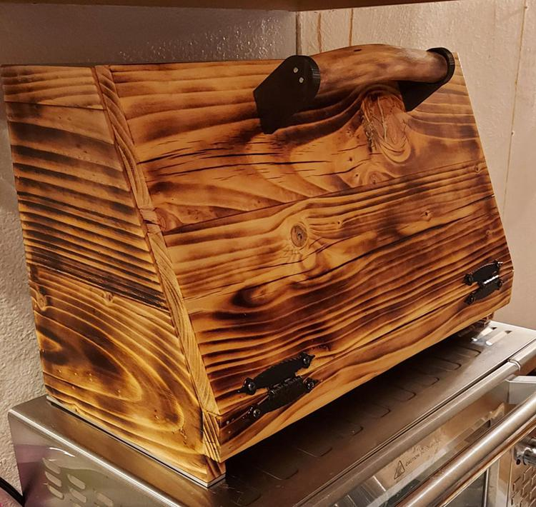 DIY Wood Burned Bread Box