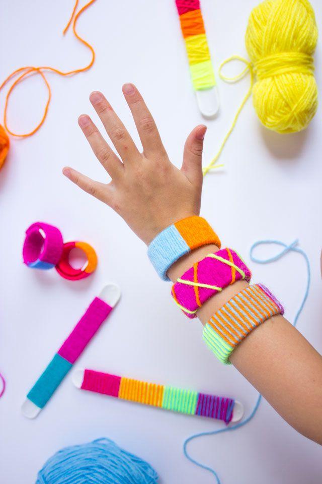 Yarn Wrapped Bracelet